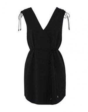 Короткое платье HAUTE HIPPIE. Цвет: черный