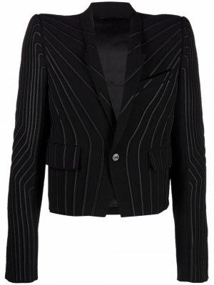 Однобортный пиджак в полоску Rick Owens. Цвет: черный