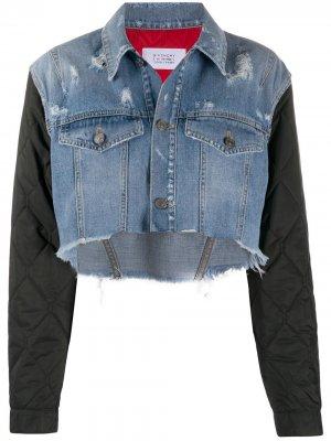 Джинсовая куртка со стегаными рукавами Givenchy. Цвет: синий