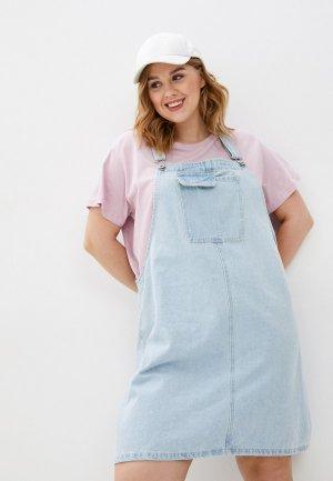 Платье джинсовое Cotton On. Цвет: голубой