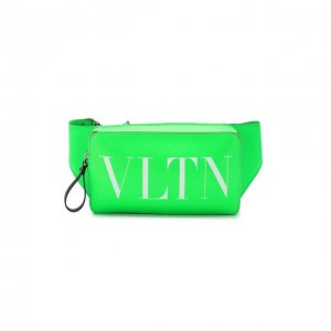 Кожаная поясная сумка Garavani VLTN Valentino. Цвет: зелёный