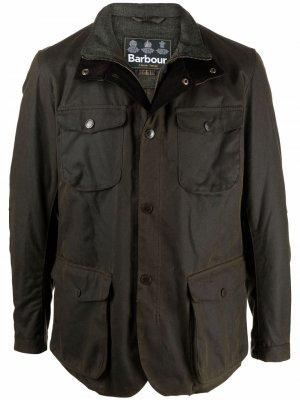 Куртка с воротником Barbour. Цвет: зеленый