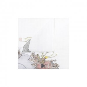 Хлопковая пеленка Atelier Choux. Цвет: белый