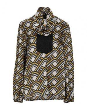 Блузка ATOS LOMBARDINI. Цвет: бежевый