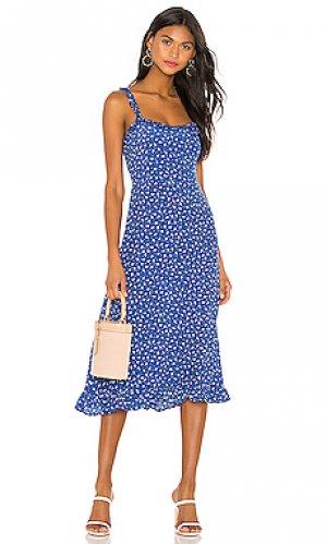 Платье noemie FAITHFULL THE BRAND. Цвет: синий