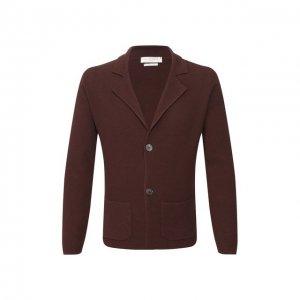 Хлопковый пиджак Daniele Fiesoli. Цвет: коричневый