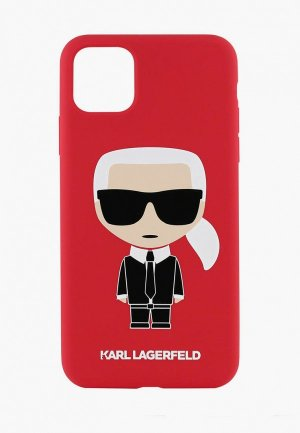 Чехол для iPhone Karl Lagerfeld 11 Pro Max Liquid silicone Iconic Hard Red. Цвет: красный