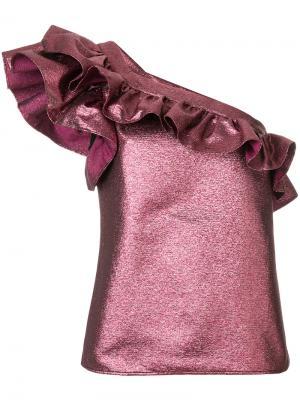 Metallic ruffle tank Philosophy Di Lorenzo Serafini. Цвет: розовый и фиолетовый