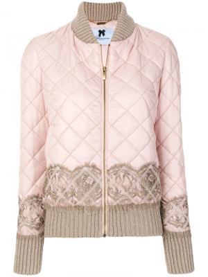 Стеганая куртка бомбер Blumarine. Цвет: розовый и фиолетовый