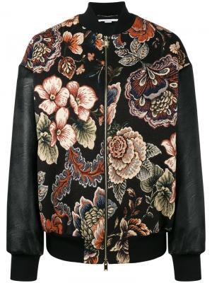 Куртка-бомбер с вышивкой Sabina Stella McCartney. Цвет: черный