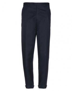 Повседневные брюки AQUASCUTUM. Цвет: темно-синий