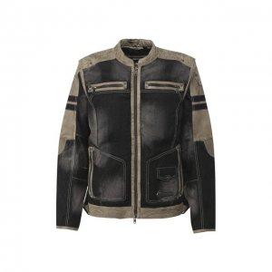 Комбинированная куртка Genuine Motorclothes Harley-Davidson. Цвет: чёрный
