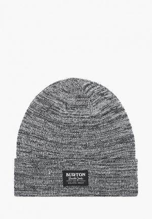 Шапка Burton KACTSBNCH TALL. Цвет: серый