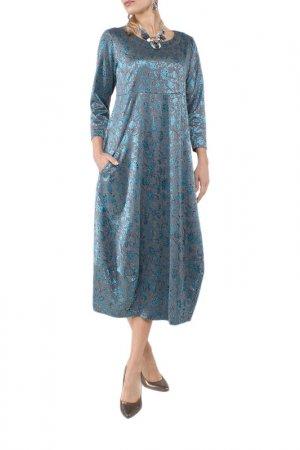 Платье Kata Binska. Цвет: изумрудный, серый