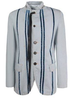Хлопковый пиджак с принтом ANN DEMEULEMEESTER