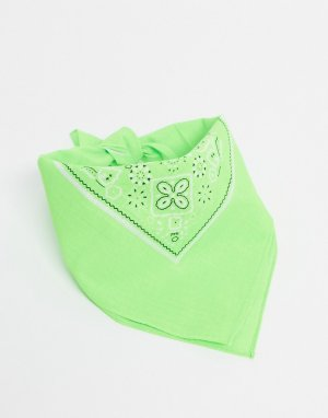 Неоново-зеленая бандана -Зеленый Vintage Supply