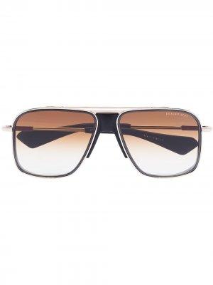 Солнцезащитные очки Initiator в квадратной оправе Dita Eyewear. Цвет: золотистый