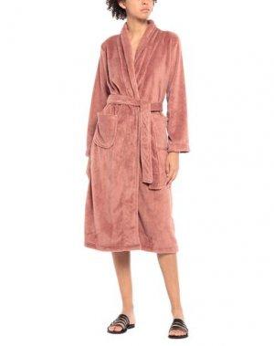 Домашние и банные халаты FEMILET. Цвет: пастельно-розовый