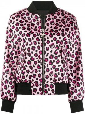 Бомбер с леопардовым принтом Chiara Ferragni. Цвет: розовый