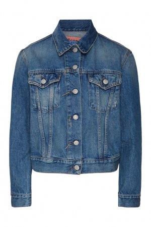Синяя джинсовая куртка Acne Studios. Цвет: синий