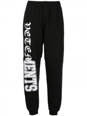 Спортивные брюки с логотипом VETEMENTS. Цвет: черный
