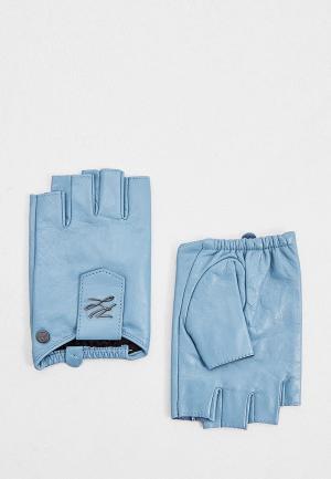 Митенки Karl Lagerfeld. Цвет: голубой