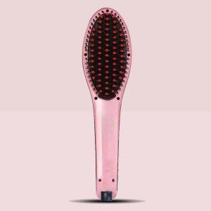 Металлический выпрямитель для волос SHEIN. Цвет: розовые