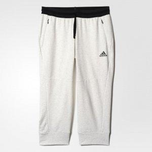 Укороченные брюки Cotton Fleece Athletics adidas. Цвет: белый