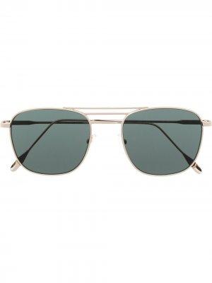 Солнцезащитные очки в круглой оправе Eleventy. Цвет: золотистый