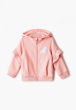 Толстовка adidas. Цвет: розовый