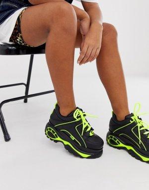 Черные классические кроссовки с неоновой отделкой London-Черный Buffalo
