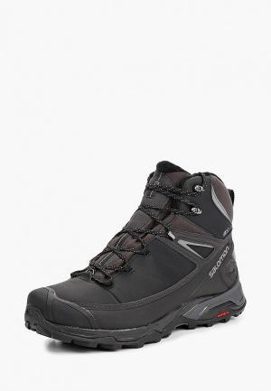 Ботинки трекинговые Salomon X ULTRA MID WINTER CS WP. Цвет: черный