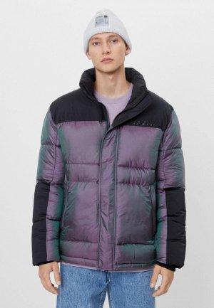Куртка утепленная Bershka. Цвет: фиолетовый