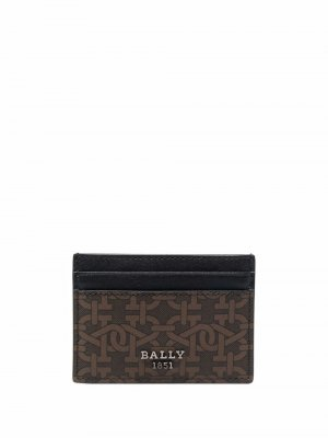 Картхолдер с логотипом Bally. Цвет: коричневый