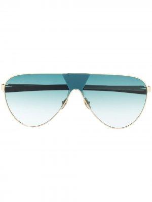 Солнцезащитные очки-авиаторы с градиентными линзами Spektre. Цвет: золотистый
