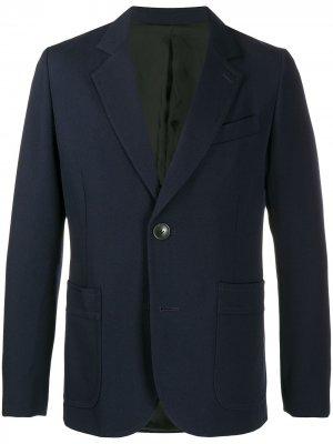Однобортный пиджак AMI Paris. Цвет: синий