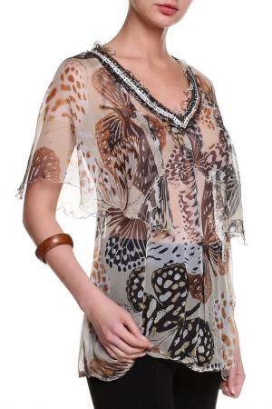 Блуза Coccapani. Цвет: мультицвет