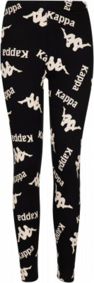 Легинсы для девочек , размер 170 Kappa. Цвет: черный