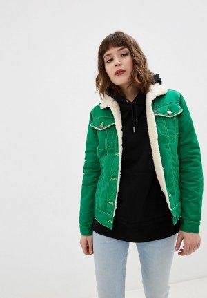 Куртка джинсовая Dasti Denim Urban. Цвет: зеленый