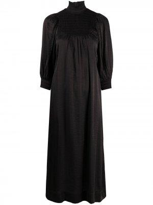 Платье миди Smocking byTiMo. Цвет: черный