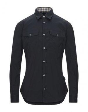 Pубашка AQUASCUTUM. Цвет: черный