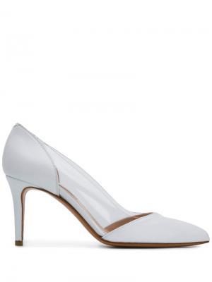 Прозрачные туфли-лодочки Albano. Цвет: белый