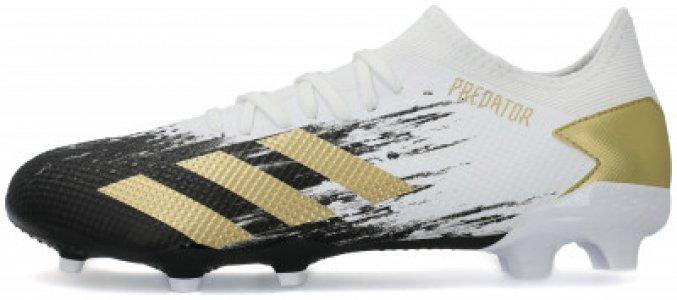 Бутсы мужские adidas Predator 20.3 L FG, размер 40.5. Цвет: белый