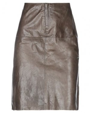 Юбка до колена BANANA REPUBLIC. Цвет: свинцово-серый