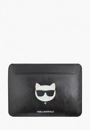 Чехол для ноутбука Karl Lagerfeld 13, Choupette Sleeve Black. Цвет: черный