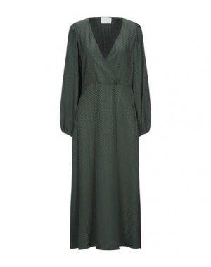 Длинное платье JUST FEMALE. Цвет: изумрудно-зеленый