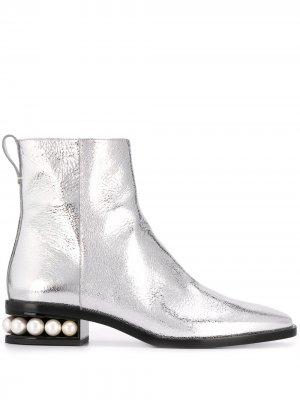 Ботинки Casati Nicholas Kirkwood. Цвет: серебристый