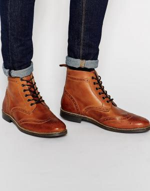 Ботинки броги Red Tape. Цвет: коричневый