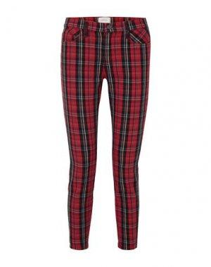 Повседневные брюки CURRENT/ELLIOTT. Цвет: красный