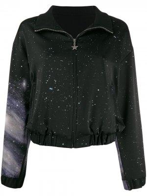 Спортивная куртка с принтом Pinko. Цвет: черный